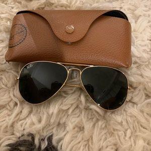 Ray-ban Aviator Sunglasses + case
